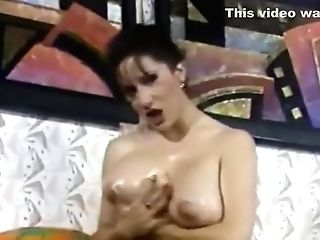 Chesty Legend Lili Xene Plays With A Fat Faux-cock