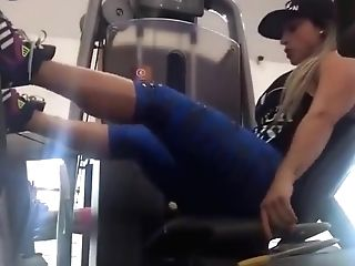 Spandex Blue Gym