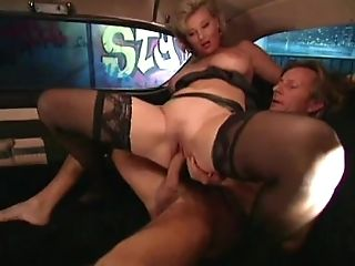 Chesty Light-haired Lucy Gets Assfucking In A Cadillac